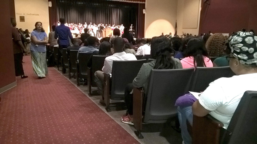 Attendees of Claflin Students' memorial service
