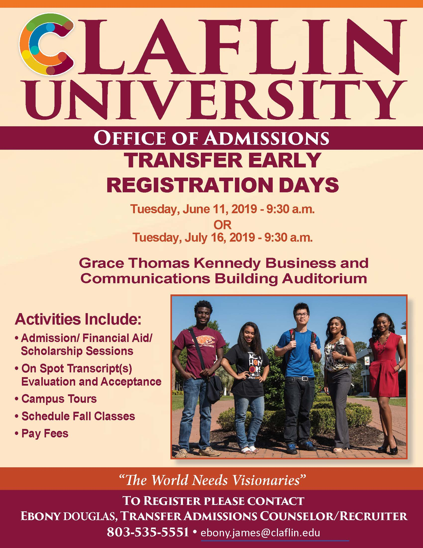 Transfer Day Flyer Spring 2019