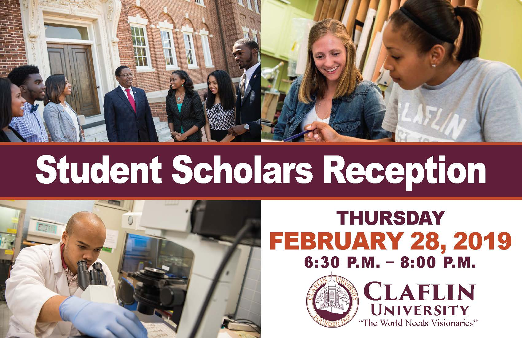 Student Scholars Reception Postcard - February 28, 2019 - Doubletree by Hilton Charlotte_Page_1