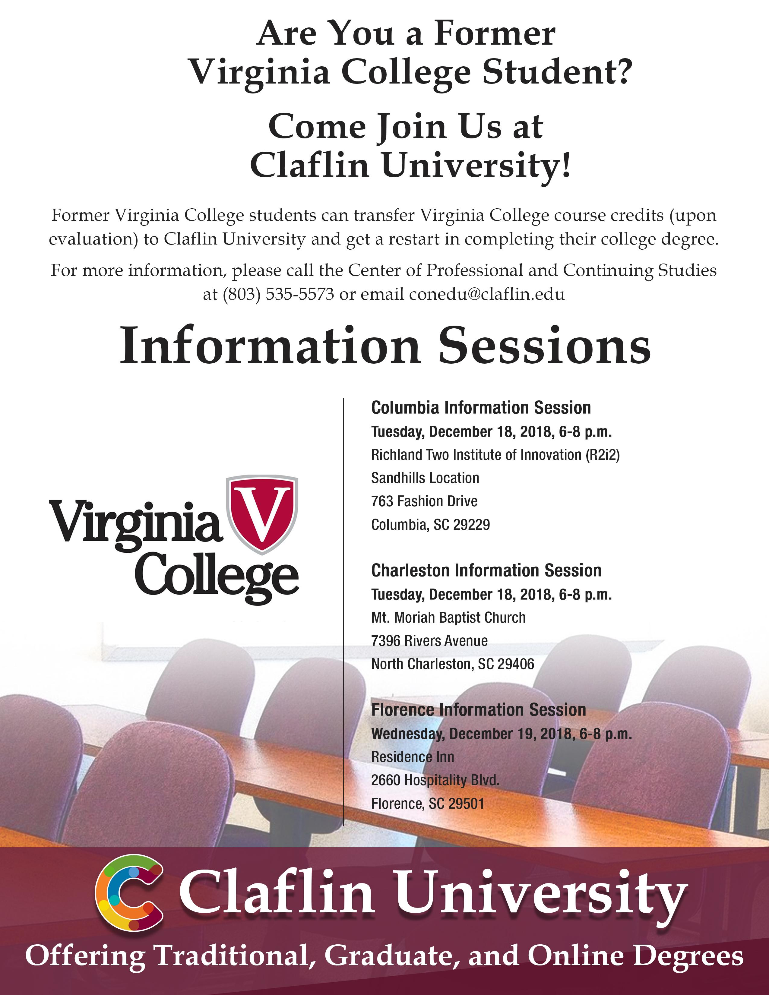 Virginia College Recruitment Reception