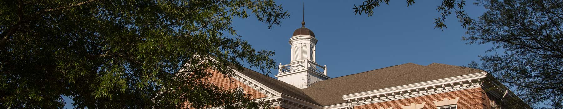 Claflin chapel spire and blue skies