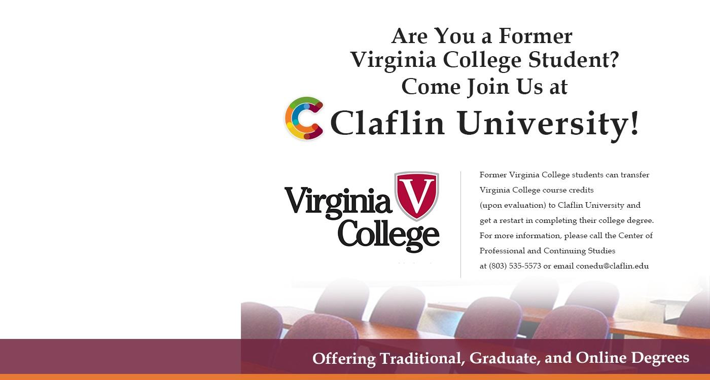 Virginia College Informational Banner
