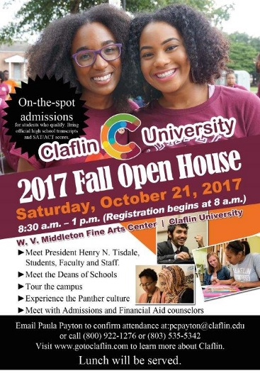 Fall Open House Flyer 2017